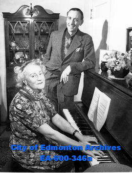 Outstanding British musicians Mr. and Mrs. Randall Stevens visit Edmonton.