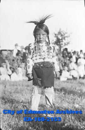 An Indigenous Child in Traditional Dress