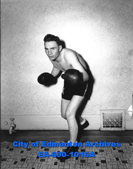 Members of the University Boxing Club: Ed French.