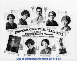Edmonton Commercial Graduates Ladies Basketball Team, World's Champions 1925