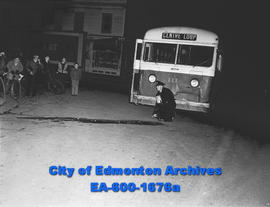 Accident at 96 Street and 101 Avenue; Edmonton Transit bus.