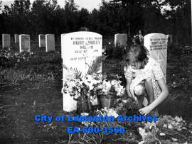 Annual Decoration Day ceremonies at the Edmonton Cemetery for those who died in WWI and WWII: 10-...