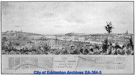 Plan Shewing Entrance of Bridge into Edmonton and Strathcona