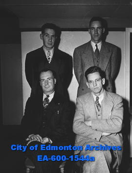 West End Businessmen's Association: Eldon Reid, Lyle Johnson, Frank Lee, W. Baldock.