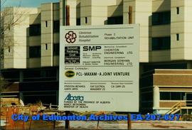 Glenrose Rehabilitation Hospital - construction sign