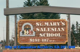 St. Mary Salesian School - sign