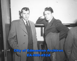 Edmonton city teachers open 22nd Annual Convention at Garneau School: (L-R) E. S. Brabbins and St...