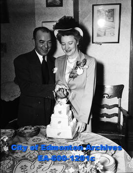 Bill Lewis and Evelyn Georgina Hughes wedding