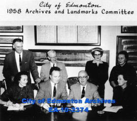 City of Edmonton-1958-Archives & Landmarks Committee