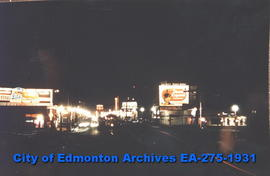 Jasper Avenue - 109 Street at night (east)