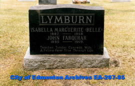 gravestone, Isabel and John Lymburn