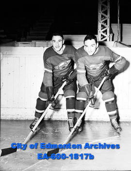 Young Junior Hockey stars are brothers Len and Don Haley.