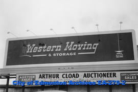 * Western Moving and Storage sign * Arthur Cload Auctioneer sign