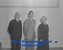 Hudson's Bay Company employees: (L-R)  Clinton Bowen, Lorne Johnson and Elizabeth Bowen.