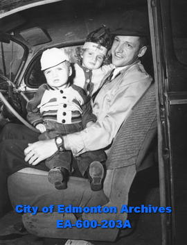 Edmonton Safety Council safety week awards: Edwin John Murray, pictured with his children Bobby a...