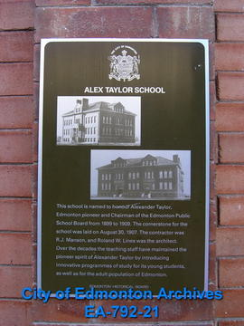 EHB Plaque for Alex Taylor School