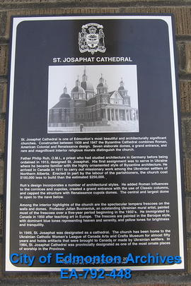 EHB Plaque for St. Josephat Cathedral