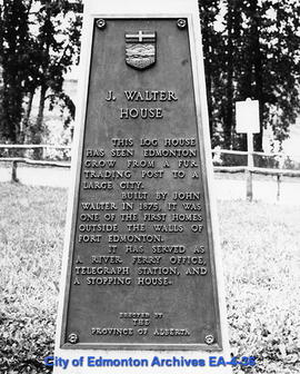 Plaque for John Walter House