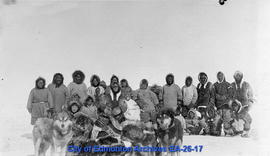 Inuit Individuals with Dogs