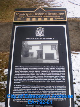 EHB Plaque for William Blakey Residence