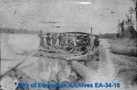 Logging Raft on North Saskatchewan River