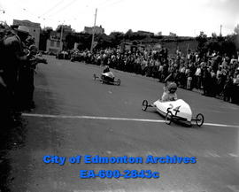 Soapbox Derby: Passing the Finish Line.