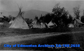 Indian encampment near Creston, B.C.