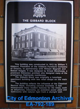 EHB Plaque for the Gibbard Block