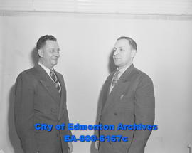 Hudson's Bay Company employees: Roy Stump (left) and Frank Dechaney.