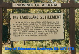 "Alberta Historical Marker - ""The Laboucane Settlement"""