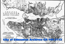 A plan showing Greater Vancouver.