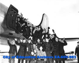 "Air Cadet Week: Air cadets from Edmonton, Ponoka and Wetaskiwin squadrons taken for a ""flip&..."
