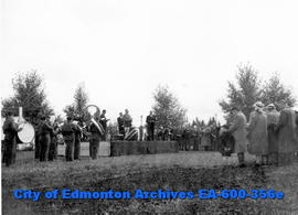 Annual Decoration Day ceremonies at the Edmonton Cemetery for those who died in WWI and WWII: vie...