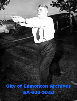 Tiny Lyttle, coach of the Edmonton Police Amateur Athletic Association.