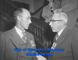 Labour Convention - President of Alberta Federation of Labour, Harry Boyse and visiting delegate ...