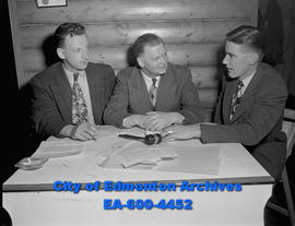 Active Club executives. L-R: Fred Crowe, Ralph Cunning and Bruce Graham.