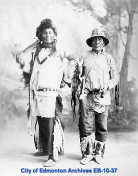 Studio portrait of two Indigenous men