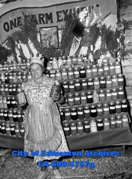 Contribution of Mrs. Hector Laplante was 150 different preserves.