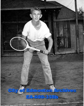 "Junior tennis players in ""Recreation Week"" tournament: Jack Hunter."