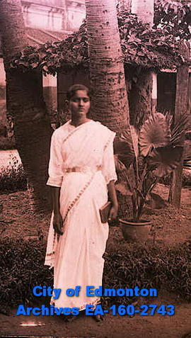 A woman in a saris.