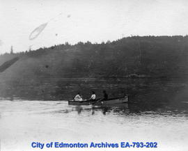 Boating on the North Saskatchewan River