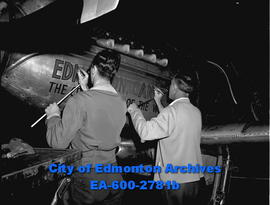 """Butch McArthur Takes Off for Big U.S. Air Races"". ""City Fighter Ace Leaves for Race""."