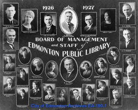 Board of Management and Staff of Edmonton Public Library 1926-1927