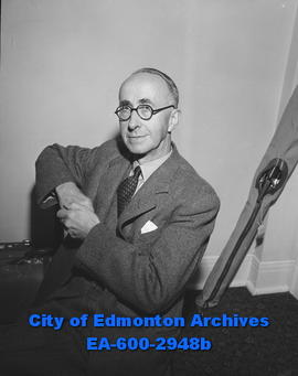 British electrical industry executive J.W. Rodgers visits Edmonton.