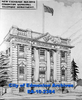 Telephone Exchange Building  Sketch-J. Martland