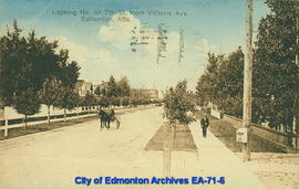 Looking North on 7th Street from Victoria Ave., Edmonton, Alta