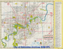 Official 1968 Tourist Map if Edmonton