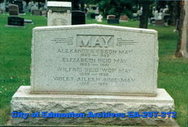 Gravestone - May Family.
