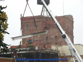 Demolition of Molson's Building - Removing Beams - Image 13 of 17