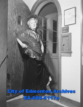 "Elsie Park Gowan in costume for Canadian Women's Press Club presentation of ""Klondike Ball&q..."
